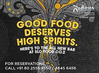 Good Food Deserves High Spirits.